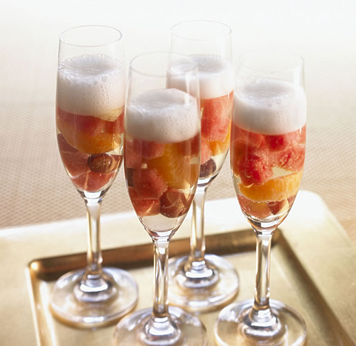 Сангрия с шампанским