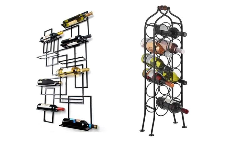 Навесные деревянные или металлические держатели - Подставка для вина