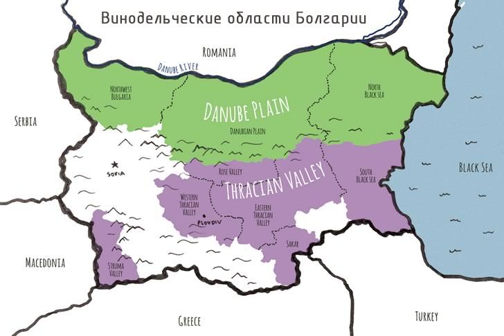 Винодельческие области Болгарии