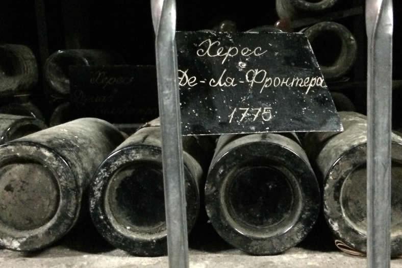 Бутылка массандровского хереса 1775 года – 43,500$