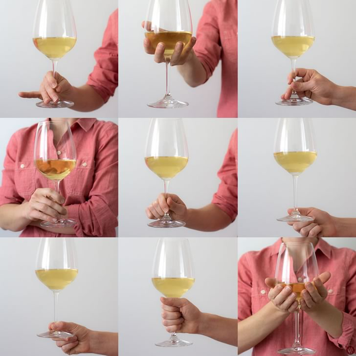 Как нельзя держать бокал с вином