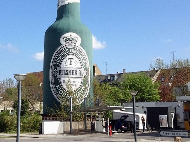 Здание бутылка Туборг