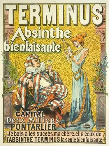 Старый плакат-постер Абсент Terminus