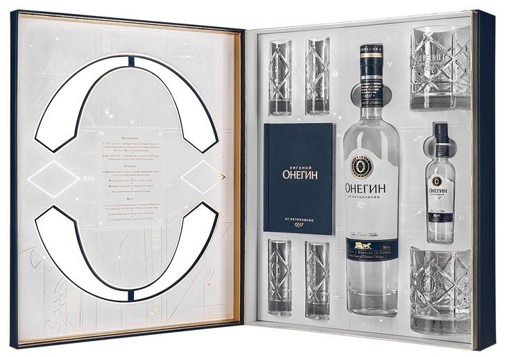 Подарочный набор водки Онегин