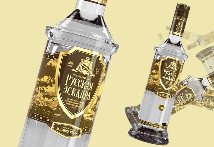 Водка Русская Эскадра: в чем фишка + как отличить подделку