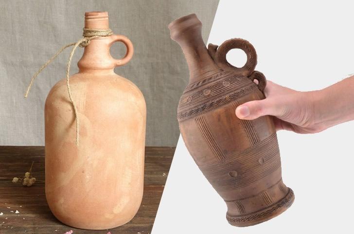 Бутыль из керамики